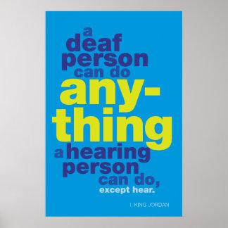 Una persona sorda puede cualquier cosa… Poster del