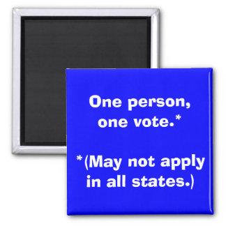 Una persona, un voto…. - imán