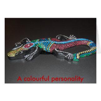 Una personalidad colorida tarjeta de felicitación