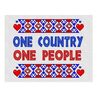 Una personas del país uno postal