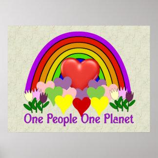 Una personas del planeta uno poster