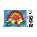 Una personas del planeta uno sello