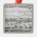 Una perspectiva de la ciudad del puente en Barbado Ornamento De Navidad