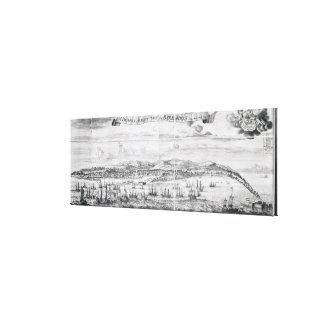 Una perspectiva de la ciudad del puente en Barbado Lona Envuelta Para Galerias
