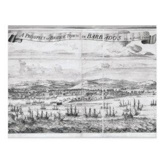 Una perspectiva de la ciudad del puente en postal