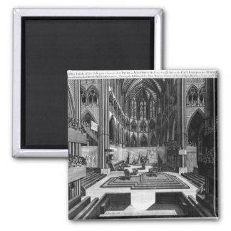 Una perspectiva de la iglesia colegial del interio iman de frigorífico