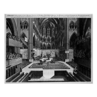 Una perspectiva de la iglesia colegial del interio poster