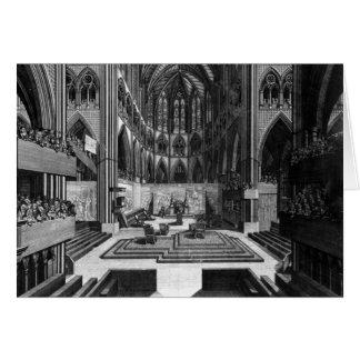 Una perspectiva de la iglesia colegial del interio felicitacion
