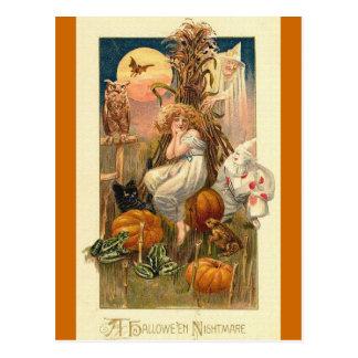 Una pesadilla de Halloween Tarjetas Postales
