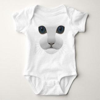 Una pieza adorable linda del bebé del gato - C Polera