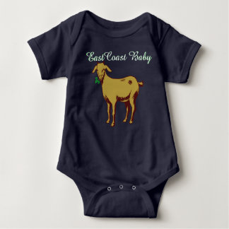 Una pieza de la cabra del bebé de la costa este playeras