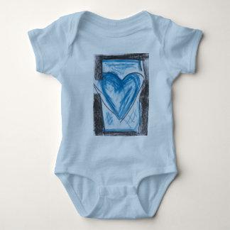 Una pieza del bebé del corazón playera