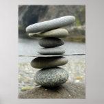 Una pila de impresión de la lona de las rocas impresiones