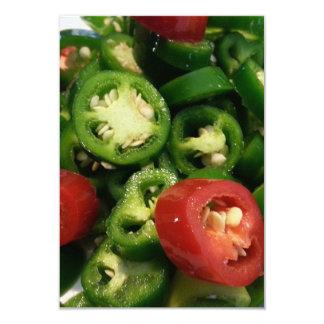 Una pimienta del chile picante para su partido invitación 8,9 x 12,7 cm
