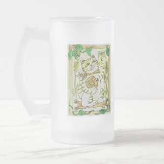 Una pinta afortunada de cerveza clara Stein Taza De Cristal