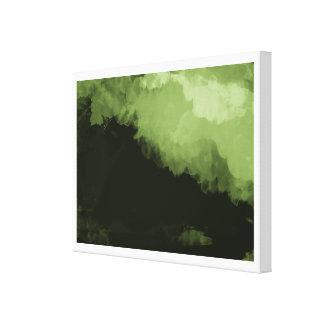 una pintura de paisaje digital verde maravillosa lona envuelta para galerias