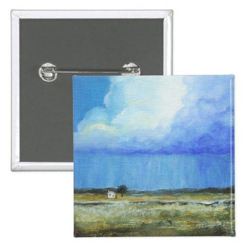 Una pintura de paisaje perfecta del arte abstracto pin cuadrada 5 cm