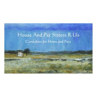 Una pintura de paisaje perfecta del arte abstracto tarjetas de visita