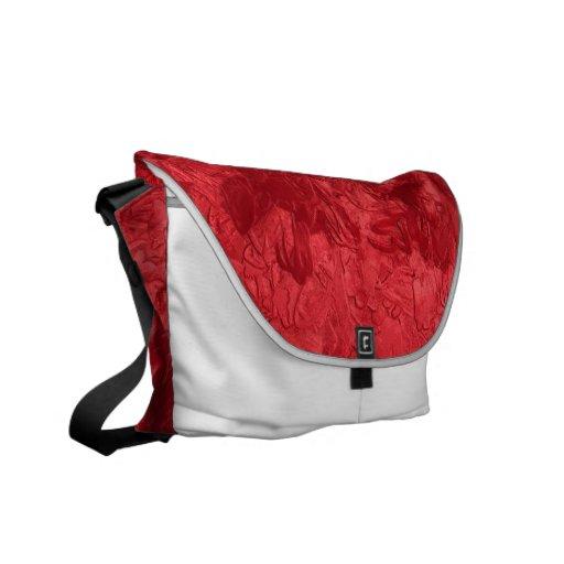 una pintura del color, roja bolsa de mensajería