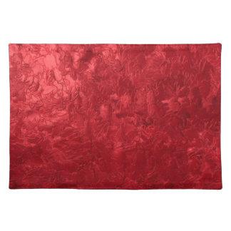 una pintura del color, roja mantel