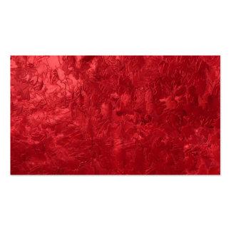 una pintura del color, roja plantilla de tarjeta de negocio
