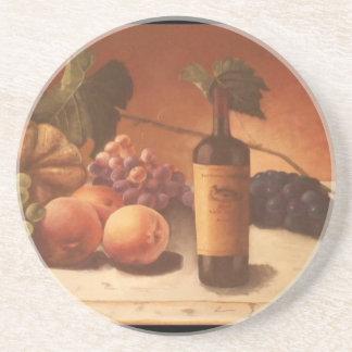 Una pintura magnífica de frutas y del vino clasifi posavaso para bebida