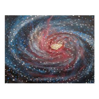 Una pintura más sucia del arte del espacio de la tarjetas postales