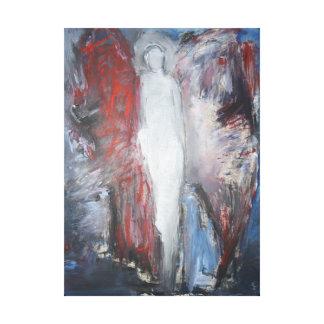 Una pintura única y hermosa de un ángel lona envuelta para galerías