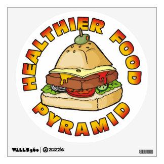 Una pirámide de alimentación más sana vinilo