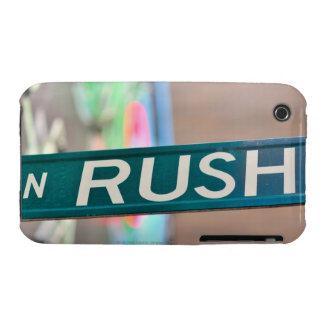 Una placa de calle de la calle de la precipitación Case-Mate iPhone 3 cárcasas