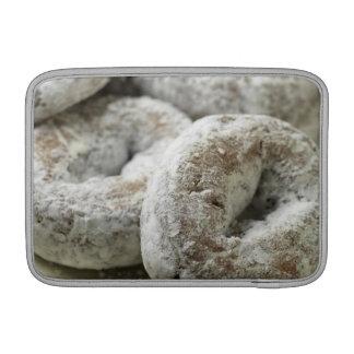 Una placa de los anillos de espuma del azúcar fundas para macbook air