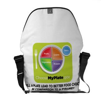 Una placa llevará para mejorar la pirámide de las bolsa messenger