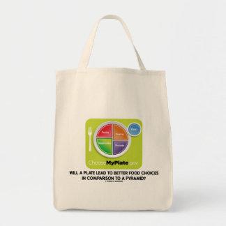 Una placa llevará para mejorar la pirámide de las bolsa tela para la compra