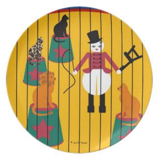 Una placa más doméstica de león de Cirque de Martz Plato De Cena