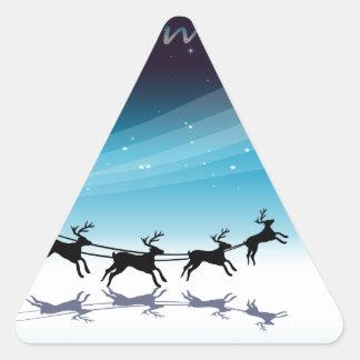 Una plantilla de la tarjeta de Navidad con los Pegatina Triangular