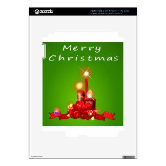 Una plantilla del navidad con las velas iPad 3 pegatinas skins