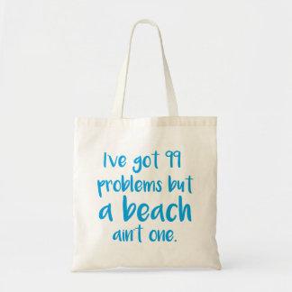 Una playa no es una bolsa tela barata