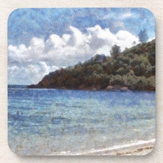 Una playa preciosa posavaso