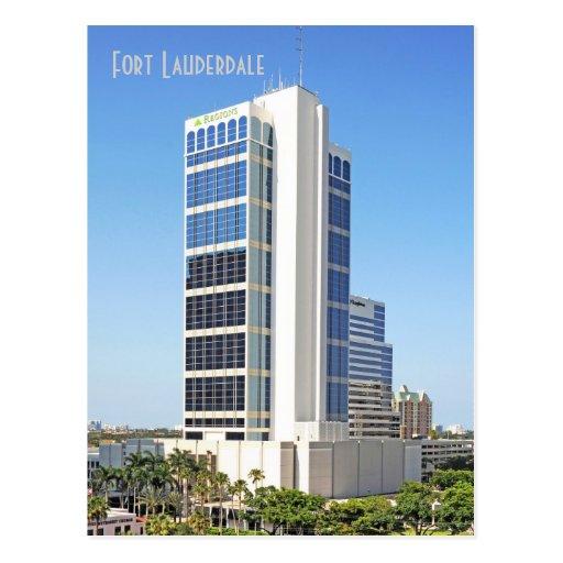 Una plaza financiera, Fort Lauderdale, la Florida Tarjeta Postal