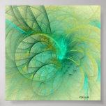 Una pluma en su casquillo (verde) impresiones