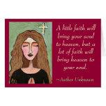 Una poca fe traerá su alma al cielo… - tarjeta de felicitación