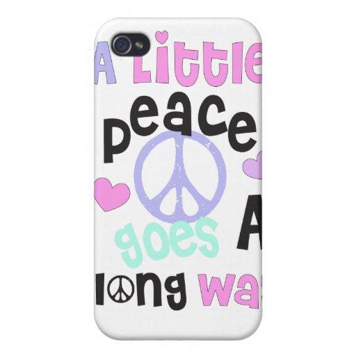 una poca paz va un camino largo iPhone 4 carcasa