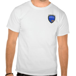 Una policía que sirve orgulloso camisetas