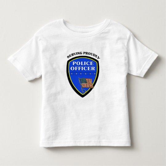 Una policía que sirve orgulloso playera de bebé