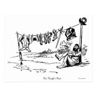 ¡Una postal de la caricatura del vintage del resto