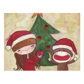 Una postal de las Felices Navidad muy