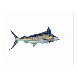 Una postal de los pescados de la aguja azul