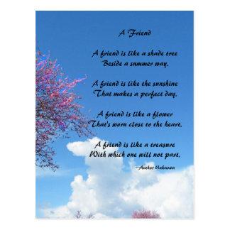 Una postal del poema del amigo