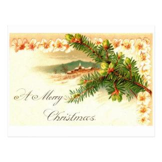 Una postal del vintage de las Felices Navidad