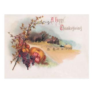 Una postal feliz de la acción de gracias